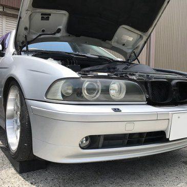 BMW E39 ラジエーター交換