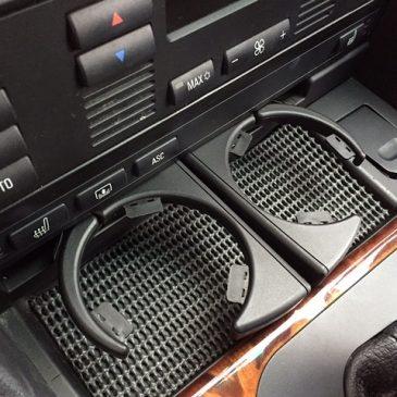 BMW E39 ドリンクホルダー、コンソールトレイ交換