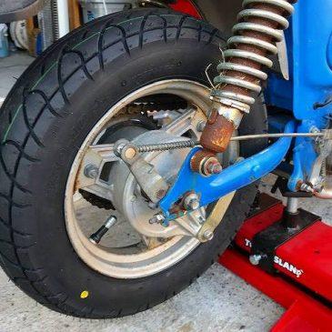 CF50 シャリーの修理 その2 タイヤ交換